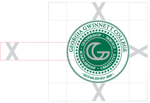 GGC college seal with spacing around it