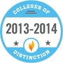 Colleges of Distinction award for 2013 to 2014