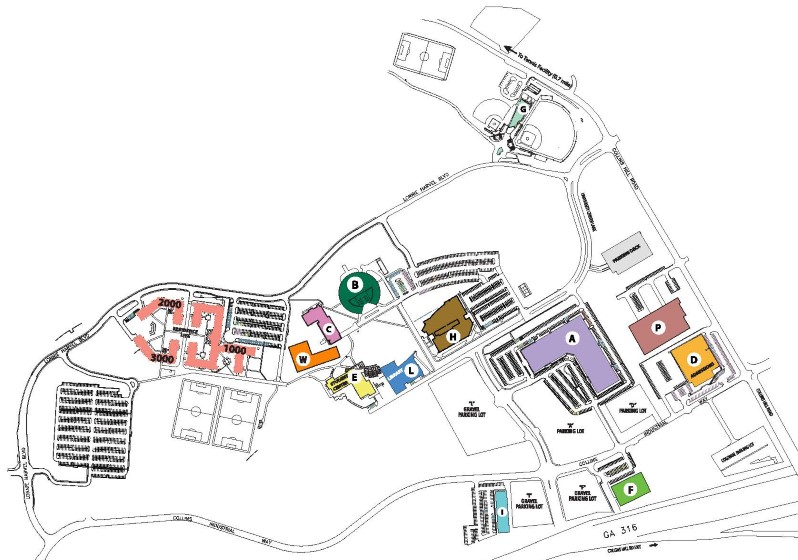 Georgia Gwinnett College Campus Map.Maps And Directions Georgia Gwinnett College