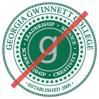 incorrect college seal with replaced components