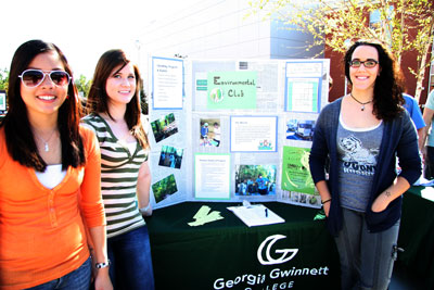 Environmental Club members at their table during Green Scene