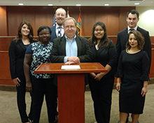 Criminal justice and political science majors participated as GGC's first moot court team during the South Atlantic Regional Moot Court Tournament in Florida in fall 2017.