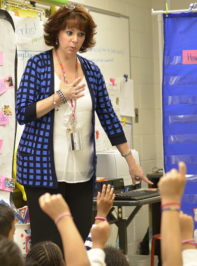 student-teaching in the field at Gwinnett County Schools