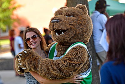 Student with General Grizzly.