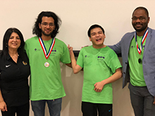 Image of GGC students and alumni at second in Association for Computing Machinery programming competition.
