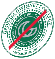 College Seal shown skewed