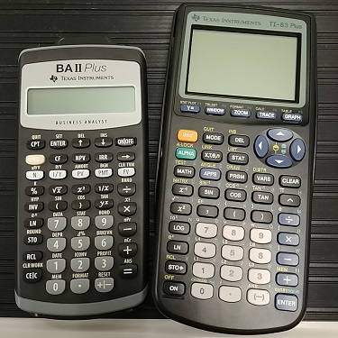 TI-83 and BA II calculators