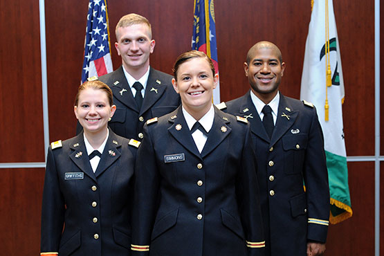 Four commissioned officers
