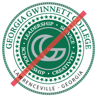incorrect college seal with type modified