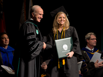 First graduate of GGC's new MIS concentration values IT/business combo
